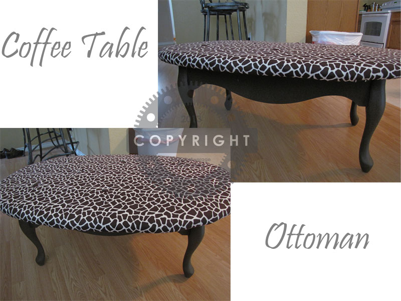 DIY Coffee Table Ottoman | Not Your Average Crafty Mom