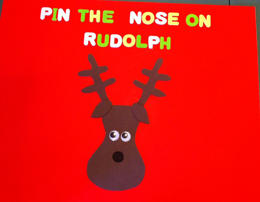 DIY Pin the Nose on Rudolph Game | Not Your Average Crafty Mom