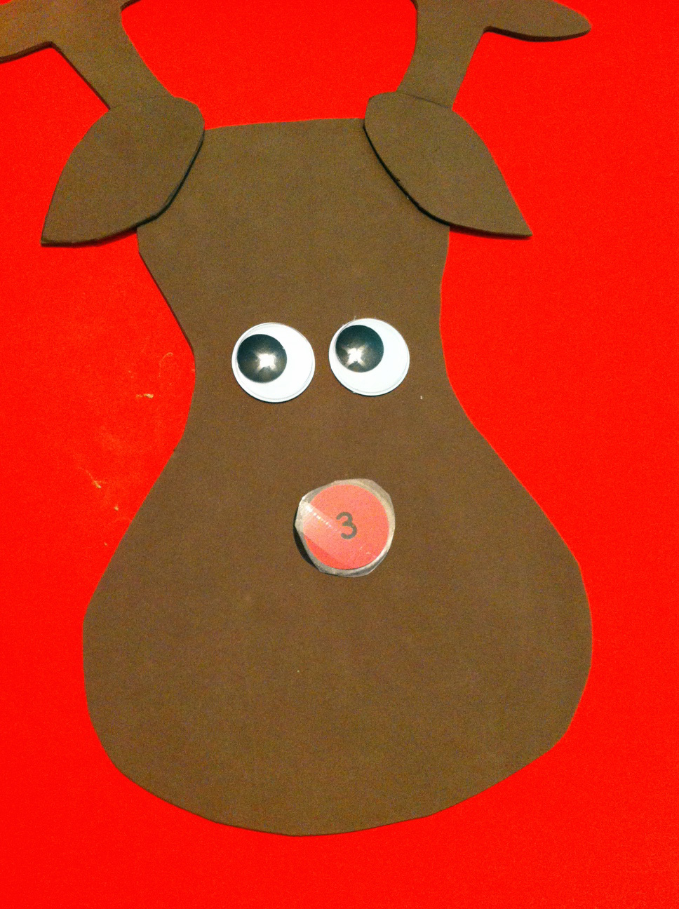 photograph relating to Pin the Nose on Rudolph Printable named Do it yourself Pin the Nose upon Rudolph Recreation Not Your Typical Cunning Mother