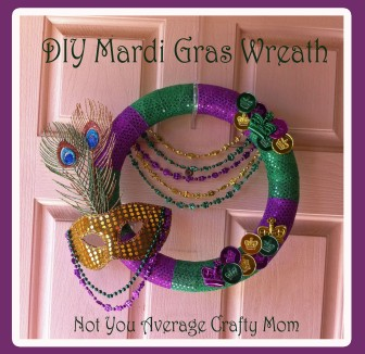 DIY Mardi Gras Wreath