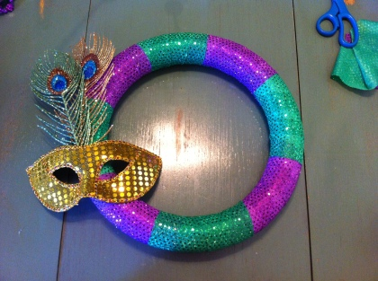 Mardi Gras Wreath Step 2