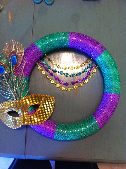 Mardi Gras Wreath Step 4