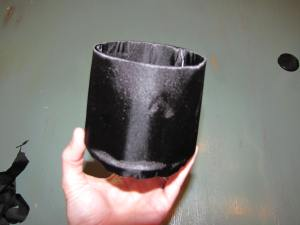 This is what your cylinder will look like once it is covered in fabric.