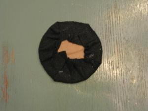 This is the underside of the brim once it was covered with the felt.